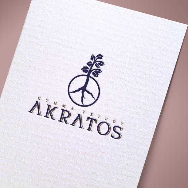 Λογότυπο Akratos Κτήμα Τσίρου